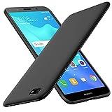 iBetter Huawei Y5 2018, Silicone TPU Coque en protectrice avec Fibre de Carbone, pour Honor 7s Smartphone .Noir
