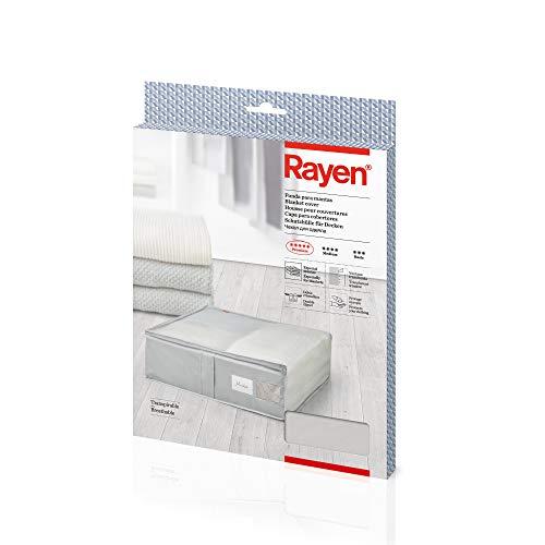 Rayen - Caja almacenaje ropa mantas cama. Bolsa tela