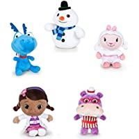 Conjunto Completo 5 Plush Felpa Doctora Juguetes Doc McStuffins 20cm Disney Original Dottie Lambie Stuffy Chilly