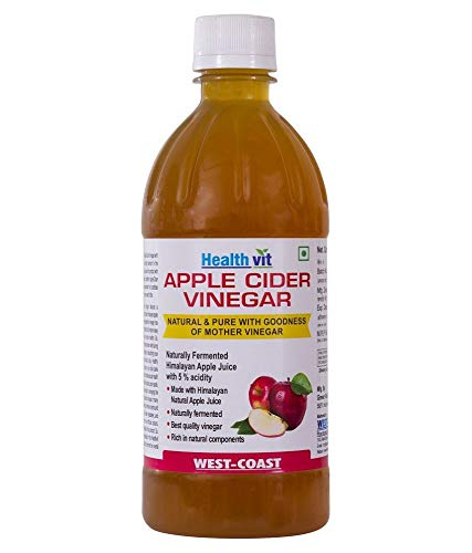 HealthVit Apple Cider Vinegar with Mother Vinegar, Raw, Unfiltered and Undiluted - 500 ml