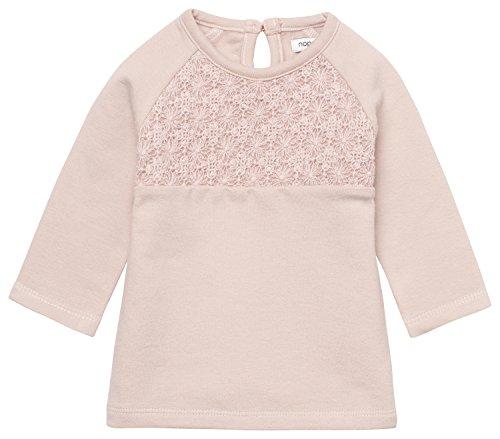 Noppies Baby-Mädchen Kleid G Dress Sweat Ls Avio, Rosa (Blush C093), 74