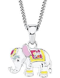 Prinzessin Lillifee Kinder-Kette Mädchen längenverstellbar mit Anhänger Elefant 925 Silber rhodiniert