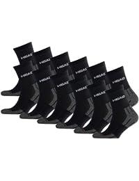 HEAD Unisex Performance Short Crew Socken Sportsocken 12er Pack black 200 - 43/46