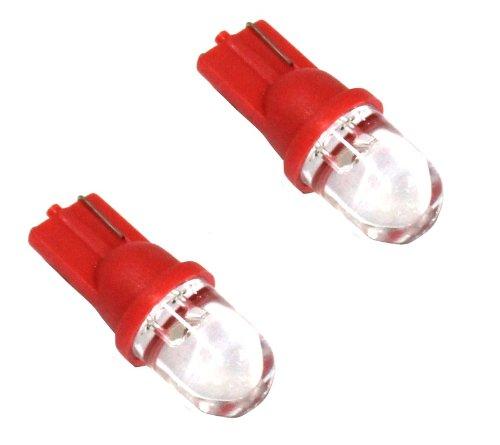 AERZETIX: Jeu de 2 ampoules T10 W5W 12V à LED (Rouge)