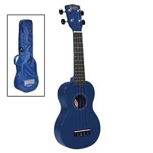 Korala Sopran-Ukulele m. Tasche blau