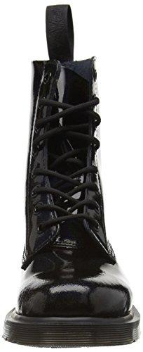 Dr. Martens - Pascal Patent Black, Scarpe da barca Donna Nero (Nero (nero))