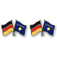 Yantec Freundschaftspin 2er Pack Deutschland Peru Pin Anstecknadel Doppelflaggenpin