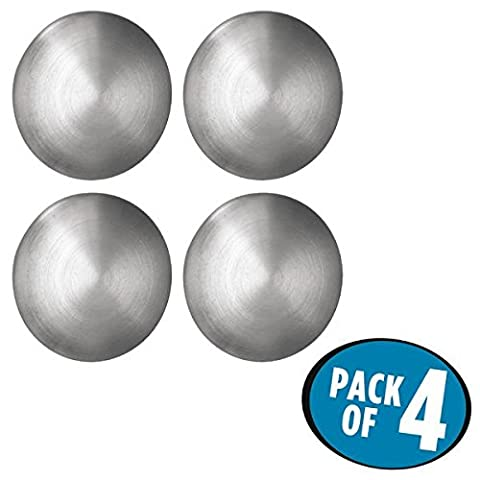 mDesign aimant frigo set à 4 - idéal comme magnet photo simple et de style – Parfait pour le tableau aimanté, le réfrigérateur ou plus – acier inox – forte adhèrance