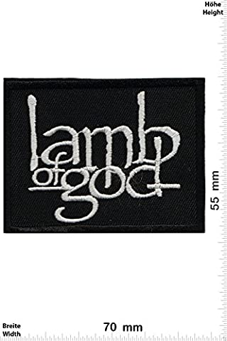 Patches - Lamb of God -Heavy-Metal-Band - Music - Iron on Patch - Applique embroidery Écusson brodé Costume Cadeau- Give Away