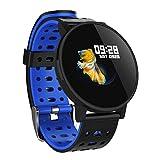Reloj inteligente TianranRT de 1,3 pulgadas, con frecuencia cardíaca, pasos, calorías, para niños, mujeres y hombres, Azul