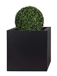 PFLANZWERK® Vaso da fiori CUBE Antracite 23x23x23cm *Resistente al gelo* *Protezione UV* *Europea di qualità*