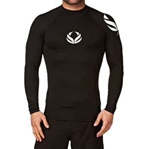 Surfdome Empire Long Sleeve Rash Vest - Black