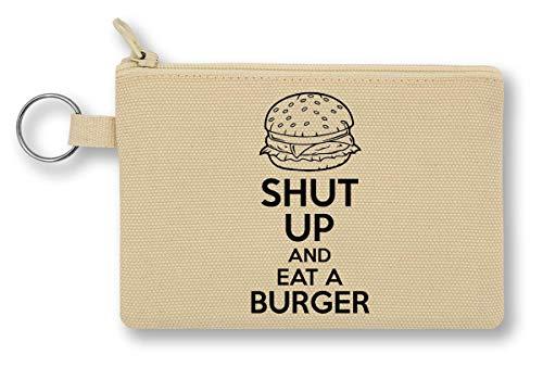 Shut Up and Eat A Burger Geldbörse mit Reißverschluss