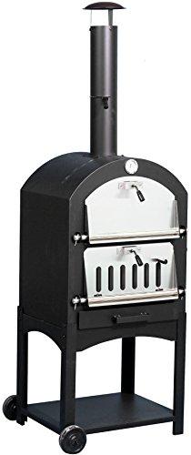 El Fuego Pizzaöfen Napoli, schwarz