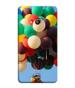 PrintVisa Designer Back Case Cover for Microsoft Lumia 535 :: Microsoft Lumia 535 Dual SIM :: Nokia Lumia 535 (Boat Flying on Balloons Life is good)