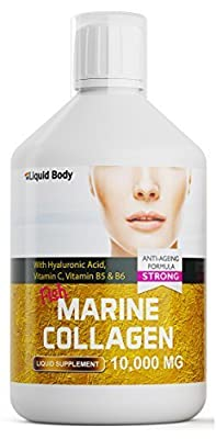 Liquid Body Premium Marine Collagen (500ml) High Dose 10,000mg per serving Anti-Ageing Formula - Promotes healthy Skin, Hair, Nails & Joints - Delicious Berry Flavour - High Absorption Rate from Liquid Body