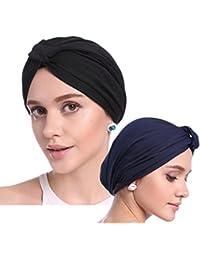 PassMe 2pcs Cappello Turbante Chemioterapia Donna Berretto per la Perdita  dei Capelli Copricapo per Chemio Cancro 2fc8f3fa95e8