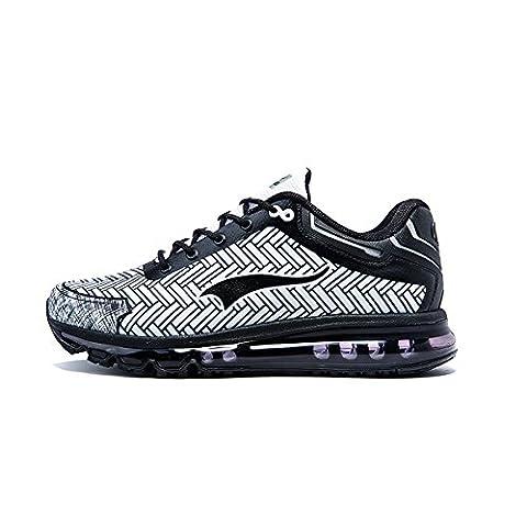 Onemix Air Baskets Chaussures Jogging Course Gym Fitness Sport Sneakers noir/blanc 44EU