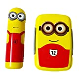 DS Minion Lunch Box with Pencil Box, Yellow & Red