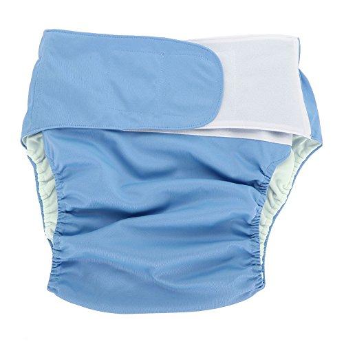 Pañales para adultos - pañal de tela para adultos, pañal grande ajustable, lavable y reutilizable, para ancianos (Color : Azul)