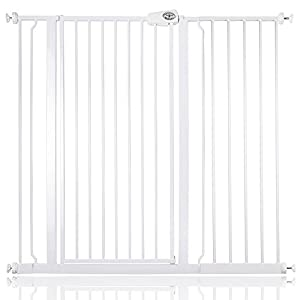 Bettacare Child and Pet Gate Pressure Fit Stair and Pet Gate 75cm - 147.5cm (113.8cm - 121.4cm, White)   1