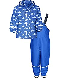Playshoes Waterproof Rainsuit Sharks, Impermeable Para Niñas