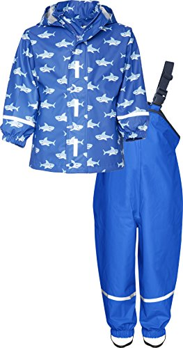 Playshoes Regen Set Hai Allover Impermeable Bambino