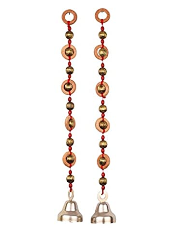 Store Indya Sale Set of 2 Traditional Handcrafted Ganesh Door Window Wall Tree Hanging For Home (Brown 1)