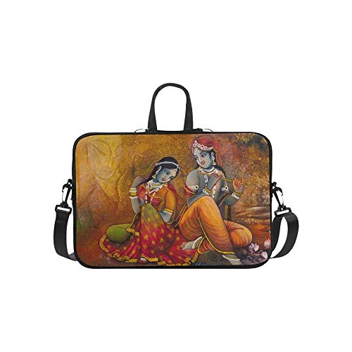 Moderne abstrakte Kunst der Leinwand Malerei Muster Aktentasche Laptoptasche Messenger Schulter Arbeitstasche Crossbody Handtasche für ()