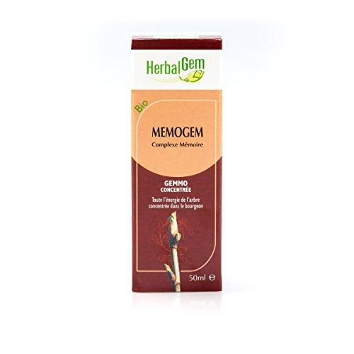 Herbalgem Memogem - Speicher und Konzentration - Flasche mit Tropfen - Synergie Tropfen