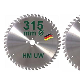 HM Sägeblatt 315 x 30 mm Zähne 48 UW Kreissägeblatt Hartmetall 315mm Ersatzsägeblatt für Avola / Atika / Elektra / Felder / Haffner / Mafell / Metabo / Scheppach / Ulmia