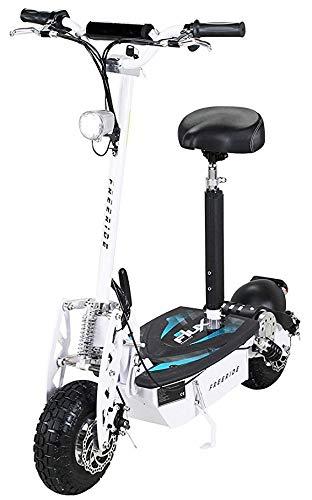 E-Scooter Roller Original E-Flux Freeride 1000 Watt 48 V mit Licht und Freilauf Elektroroller E-Roller in vielen Farben (weiß)
