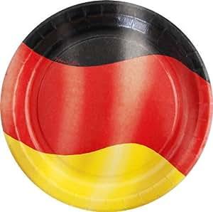 Teller Deutschland, 10 Stück, Ø 23cm