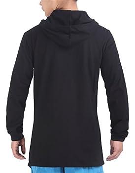 Pizoff Unisex Hip Hop Gotik Punk Zip Up Extra Long Black Coat Jacket Hoodie 3