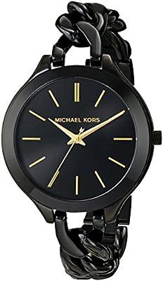 Reloj Michael Kors Slim Runway Mk3317 Mujer Negro