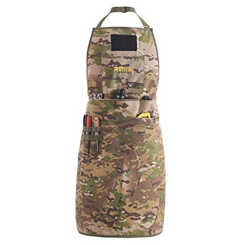 Mc Ärmellos (MC Camouflage Flower Nylon Camouflage Tactical Herrenschürze, Outdoor-Picknick Verschleißfest Schmutzabweisend Wasserabweisend Wartungsarbeit Kleidung Mechanische Ausrüstung Werkzeuge Umgeben Rock)