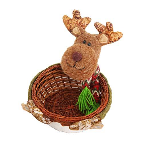Amosfun Candy Serving Basket Dessert Aufbewahrungsschüssel Halter Puppe Rattan Tisch Korb Geschenk Ornament für Home Party Decor (Cookie Display-boxen)