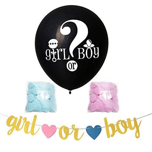 Wifehelper 36'Palloncini in Lattice Addensati Gender Reveal Balloon Palloncini Lucidi Kit Coriandoli per Ragazza o Ragazzo Matrimonio Compleanno Baby Shower Decorazione Natalizia(B: Girl Or Boy)