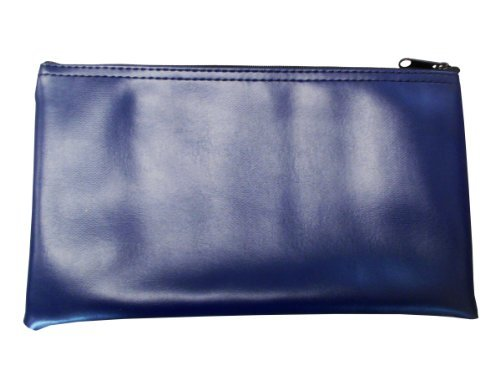 b1d8e8bfb2f8 Zipper Bag Leatherette, Check Wallet 11 x 6 Inch (Navy Blue) by Cardinal  Bag Supplies