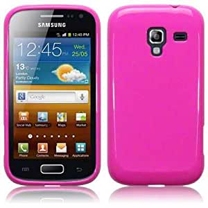 Samsung Galaxy Ace 2 i8160 TPU Gel Skin Case / Cover - Solid Hot Pink Part Of The Qubits Accessories Range