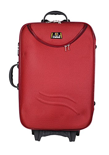 United Bag HALF MOON Expandable Trolley Bag - Medium(Red) UTB035-AA  available at amazon for Rs.1899