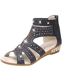PAOLIAN Sandalias de Vestir para Mujer Verano 2018 Sandalias de Romano con  Diamante Suela Blanda Zapatos 6968c1f2ad5