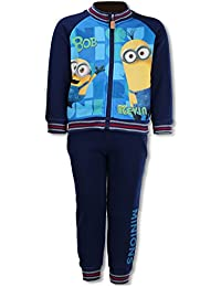 Despicable Me Boys Minions Fleece Lined Tracksuit Trackpant Age 4 to 12 Years
