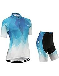 Maillot de Cyclisme Femme Manches Courtes jersey(S~5XL,option:Cuissard,3D Coussin) N220