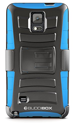 Note 4hseries Fällen, buddibox, Blau Swivel Clip Carry Sleeve