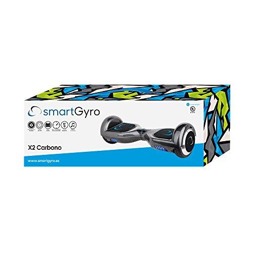 SmartGyroX2 hoverboard 2 x 350W con batería Samsung color carbón