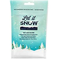Let it Snow Instant Snow Powder - Makes Magical Fluffy White Artificial Snow - Perfect Cloud Slime, Frozen Theme Birthday Parties Snow Decorations!