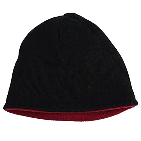 Ezyoutdoor Men's Cap/Hat 2-in-1 Reversible Beanie Winter Warm Beanie Hat Hunting Ski Neck Hat Cap for Riding Cycling Hunting Fishing Walking (Black)