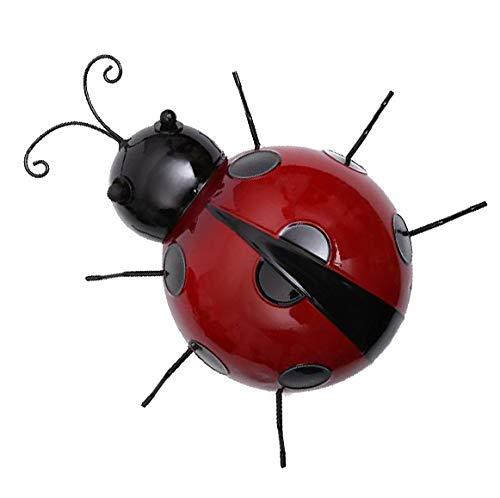 Fenteer Marienkäfer Metall Schlüsselanhängerform Kleiderbügel Wandbehang, 10x 9X 3cm - Rot