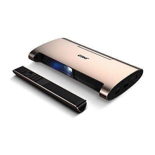 JMGO M6 Mini Beamer, tragbarer Projektor mit 200 ANSI-Lumen, DLP-Smart-Pico-Projektoren mit Android-System, Full HD 1080P / 4K- und 3D-Video-Unterstützung, eingebaute 5400 mAh-Energiebank